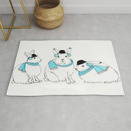 Arctic Hares Rug