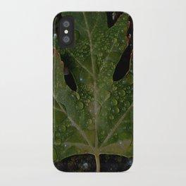 rainy leaf iPhone Case