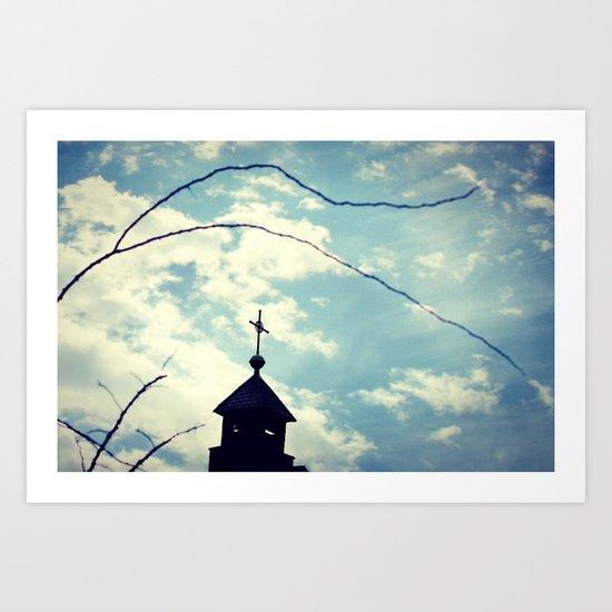 To the Chapel  - JUSTART © Art Print