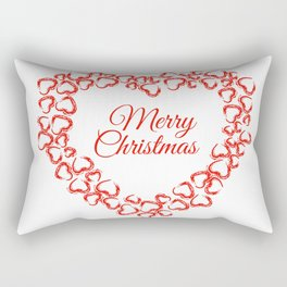 Christmas Heart Wreath Rectangular Pillow