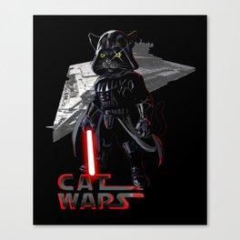 Cat Darth Vader  Canvas Print