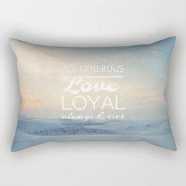 All Generous In Love - Psalm 100:5 Rectangular Pillow