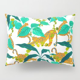 Leopards Playing among Plants Pillow Sham