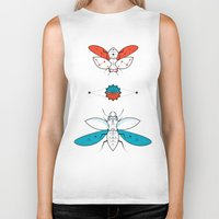 insects Biker Tanks featuring Two Insects II by Ukko
