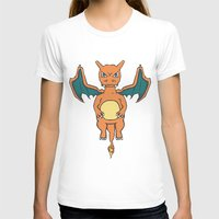 charizard T-shirts featuring Charizard Character Art Graphic Design by Jorden Tually Art