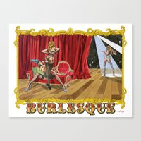 burlesque Canvas Prints featuring BURLESQUE by Alessandro Ardy