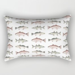 Pattern: Inshore Slam ~ Redfish, Snook, Trout by Amber Marine ~ (Copyright 2013) Rectangular Pillow