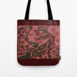 Textile Peacock Tote Bag