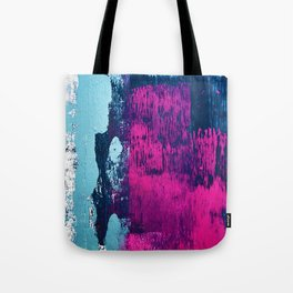 Early Bird: A vibrant minimal abstract piece in blues and pink by Alyssa Hamilton Art Tote Bag