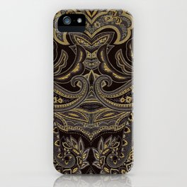 Paisley 9 Gold iPhone Case