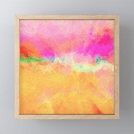 Modern Pastel Rainbow Cascade Abstract Framed Mini Art Print