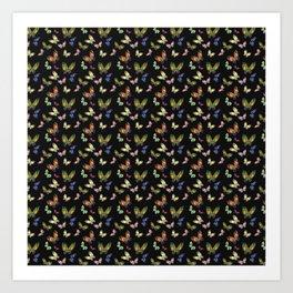 Pattern Buttefly Art Print