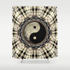 Yin Yang Geometry Mandala V1 Shower Curtain