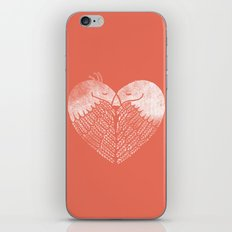 Love birds sitting on a tree iPhone Skin