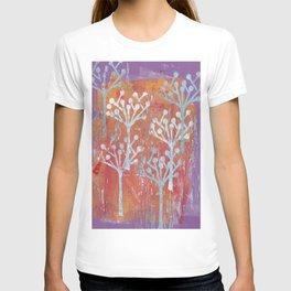orange dot tree forest T-shirt