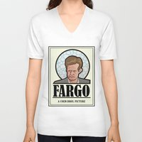 fargo V-neck T-shirts featuring FARGO - A Coen Bros. Picture by Damn Fine Design
