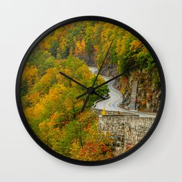 Hawk's Nest Autumn Wall Clock