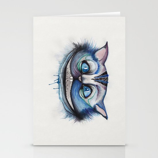 Cheshire Cat Grin - Alice in Wonderland Stationery Cards