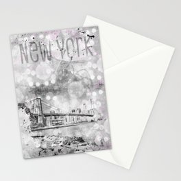 Graphic Art Pebble Beach View to Manhattan Stationery Cards