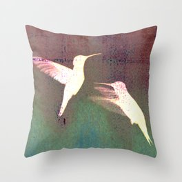Hummers Throw Pillow