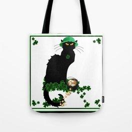 Le Chat Noir - St Patrick's Day Tote Bag