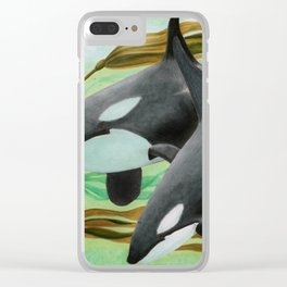 Mama's Boy Clear iPhone Case