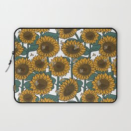 Sunflowers + Bees Laptop Sleeve
