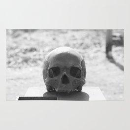Graveyard skull Rug