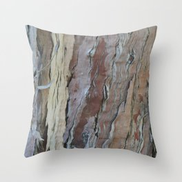 TEXTURES -- Fern-Leaved Ironwood Bark Throw Pillow