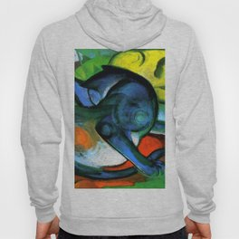 """Franz Marc """"Two Cats, Blue and Yellow' Hoody"""
