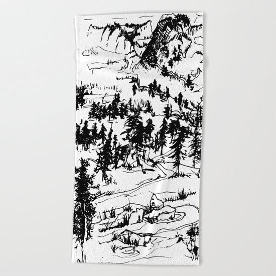 This is where it happened last autumn Beach Towel