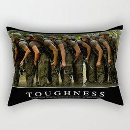 Toughness: Inspirational Quote and Motivational Poster Rectangular Pillow