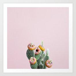 Donut Cactus In Bloom Art Print