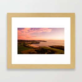 jacks bay new zealand beautiful colors at sunset farmland bay Framed Art Print