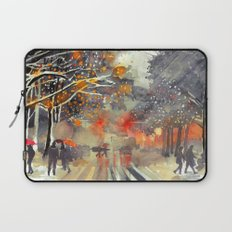WINTER IN THE CITY Laptop Sleeve