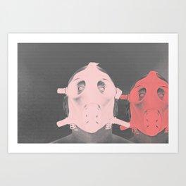 Pastel Masks Art Print