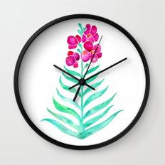 Blooming Orchid – Magenta & Mint Palette Wall Clock
