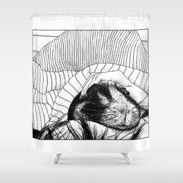 asc 559 - Le cobaye (Small furry thing) Shower Curtain