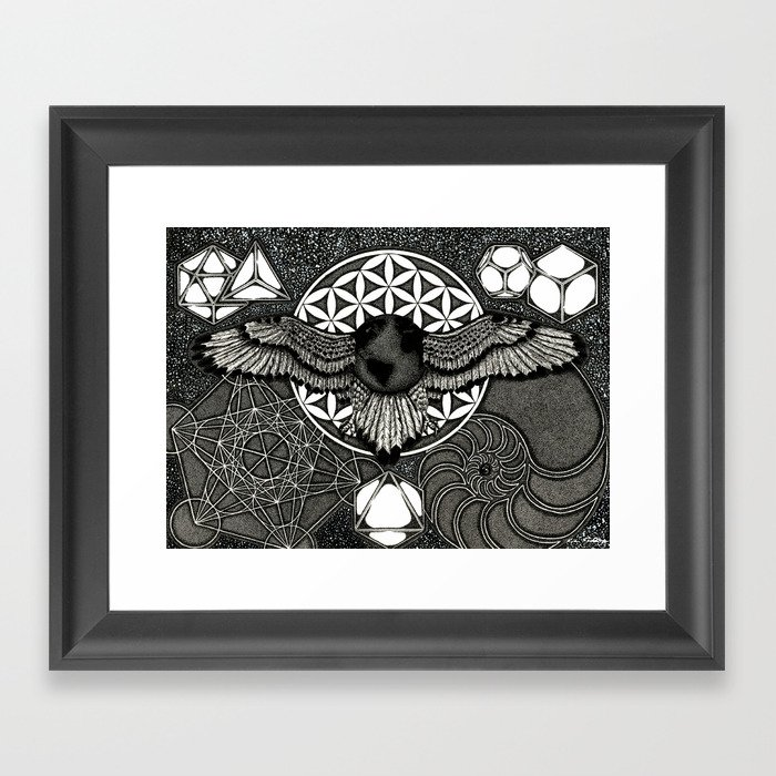 Earth Ascension, Sacred Knowledge Framed Art Print