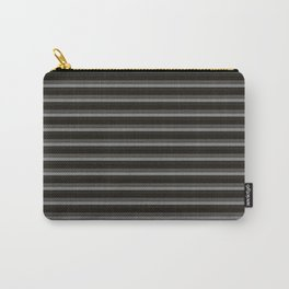 Black Ombre Stripes Carry-All Pouch