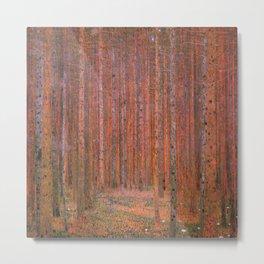 Tannenwald Fir Forest by Gustav Klimt Metal Print