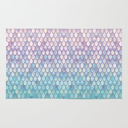 Spring Mermaid Scales Rug