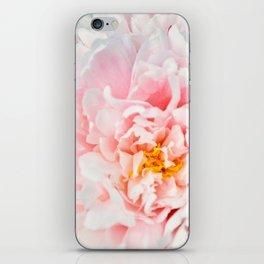 Peony Flower Photography, Pink Peony Floral Art Print Nursery Decor A happy life - Peonies 2 iPhone Skin