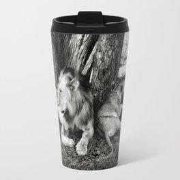 African Safari Lion Travel Mug