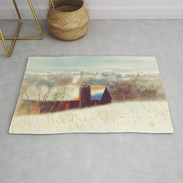 The Barn Over The Hill Rug