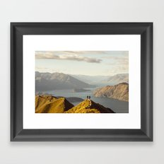 Lovers in Wanaka Framed Art Print