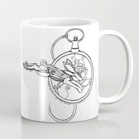 alice in wonderland Mugs featuring Wonderland by Stephanie Hillman Design