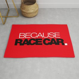 BECAUSE RACE CAR v6 HQvector Rug
