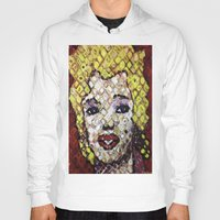 marylin monroe Hoodies featuring MARYLIN MONROE by JANUARY FROST