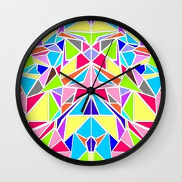 Colorful Machaon Wall Clock